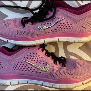Nike free sneakers with Swarovski crystals